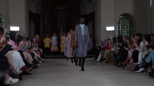 aksu at london fashion week a/w 2020 bora aksu at st george's on february 17 2020 in london england - pacific islands stock videos & royalty-free footage
