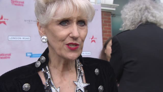 clean at 'london road' premiere at ritzy brixton on june 09 2015 in london england - anita dobson stock videos & royalty-free footage
