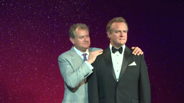 clean at madame tussauds unveils hugh bonneville wax work – hugh bonneville in attendance - madame tussauds stock videos & royalty-free footage