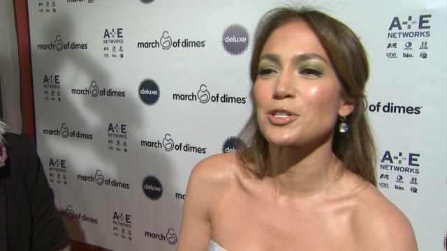 at march of dimes celebration of babies luncheon honoring jennifer lopez in los angeles, ca on 12/06/13 - モリー・シムズ点の映像素材/bロール