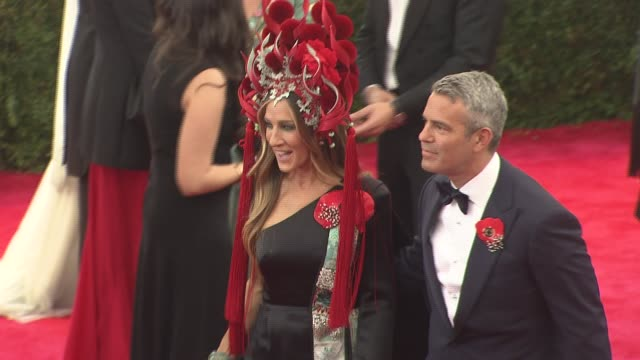stockvideo's en b-roll-footage met at metropolitan museum of art on may 04 2015 in new york city - sarah jessica parker