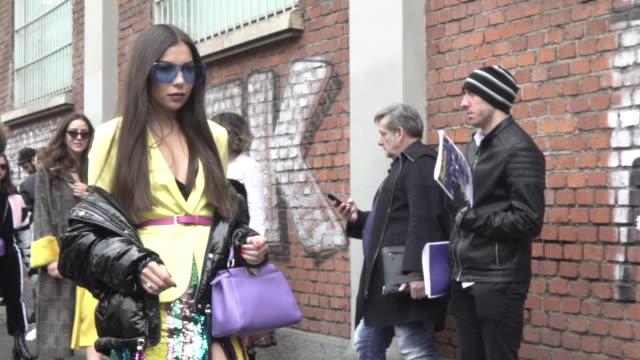 STYLE at Milan Fashion Week A/W 2018 Street Syle Fendi on February 22 2018 in Milan Italy