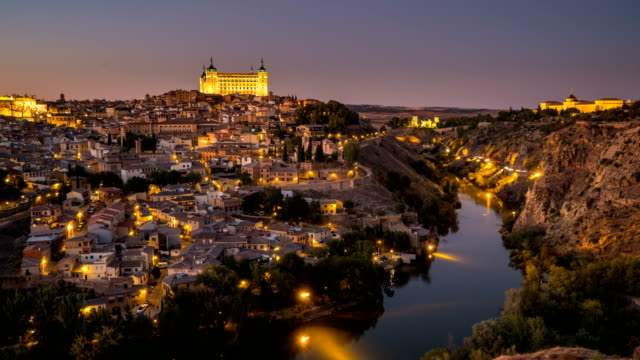 d2n t/l at mirador de valle, toledo, spain - gothic style stock videos & royalty-free footage