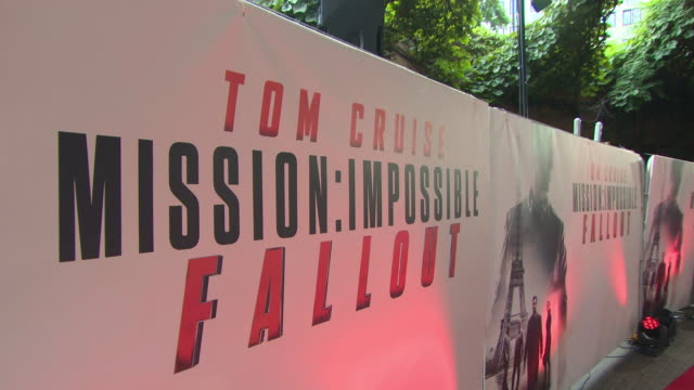 atmosphere at 'mission impossible fallout' uk premiere at bfi imax on july 13 2018 in london england - simon pegg stock videos & royalty-free footage