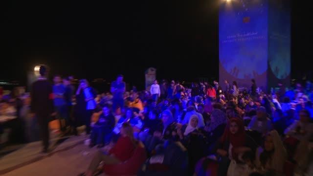 atmosphere at mohammed assaf performance 12th annual dubai international film festival on december 11 2015 in dubai united arab emirates - film festival stock videos & royalty-free footage