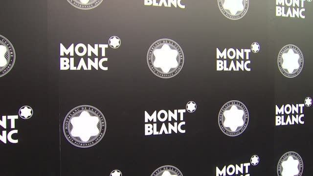 stockvideo's en b-roll-footage met signage at montblanc honors quincy jones at montblanc honors quincy jones at the montblanc de la culture arts patronage awards ceremony on 10/02/12... - arts culture and entertainment