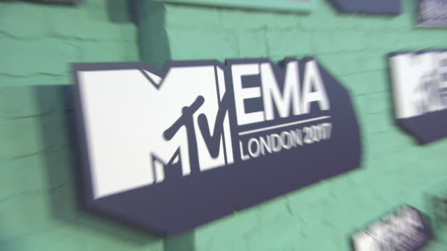 atmosphere at mtv ema awards at the sse arena wembley on november 12 2017 in london england - wembley arena stock videos & royalty-free footage