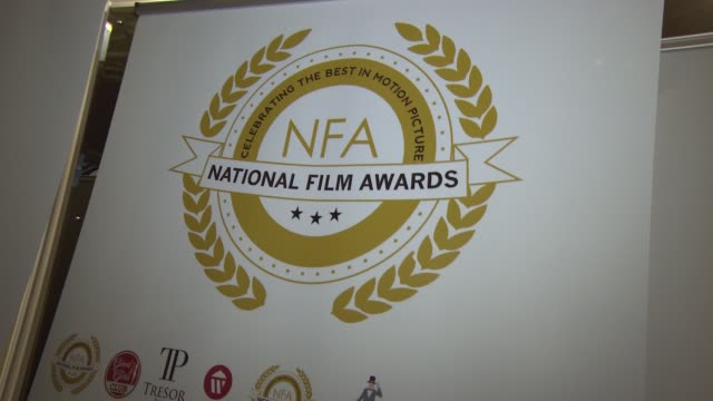 at national film awards at porchester hall on march 31, 2015 in london, england. - ポーチェスター点の映像素材/bロール