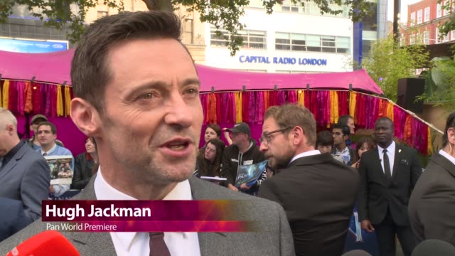 chyron at 'pan' uk film premiere at odeon leicester square on september 20 2015 in london england - event capsule stock videos & royalty-free footage