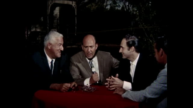 at paramount studios, sound stage 9. a studio party in honor of sid caesar and his 20th year in show business and a new movie in which he's the star,... - comedian stock videos & royalty-free footage