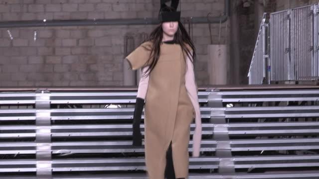 RUNWAY at Paris Fashion Week Rick Owens aw17 catwalk show on March 2 2017 in Paris France