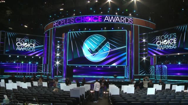 atmosphere at people's choice awards 2017 press day in los angeles ca - people's choice awards stock videos & royalty-free footage