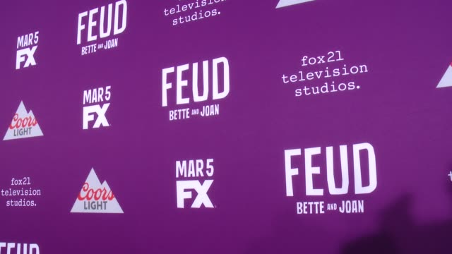 """at premiere of fx network's """"feud: bette and joan"""" in los angeles, ca 3/1/17 - fx network stock videos & royalty-free footage"""