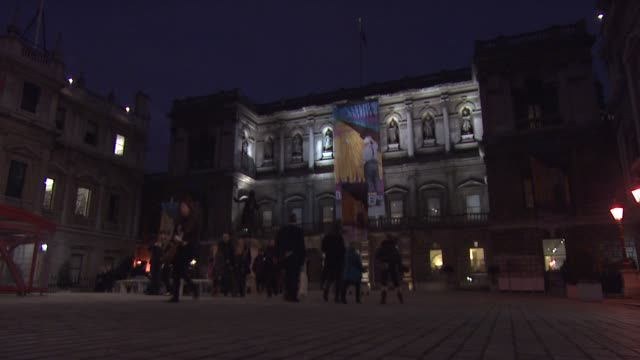 at royal academy of arts on february 16 2012 in london england - royal academy of arts stock videos & royalty-free footage