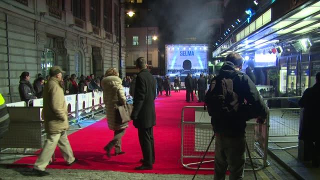 atmosphere at selma uk film premiere on 27th january 2015 in london england - 伝記映画点の映像素材/bロール
