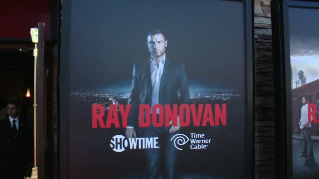 atmosphere at showtime and time warner cable celebrate season two of ray donovan in los angeles ca - showtime video stock e b–roll