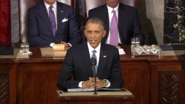 at state of the union address president says we believed we could reverse the tide of outsourcing says america has millions of new jobs - rede zur lage der nation usa stock-videos und b-roll-filmmaterial