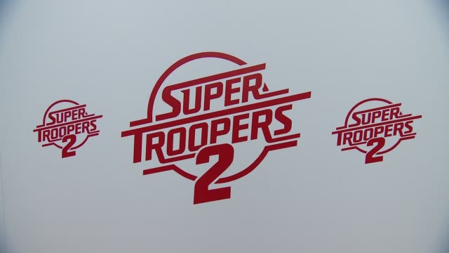 "atmosphere at ""super troopers 2"" los angeles premiere presented by fox searchlight pictures in los angeles ca - super troopers 2 stock videos & royalty-free footage"