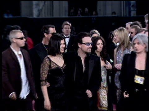 U2 at the 2003 Academy Awards Arrivals at the Kodak Theatre in Hollywood California on March 23 2003