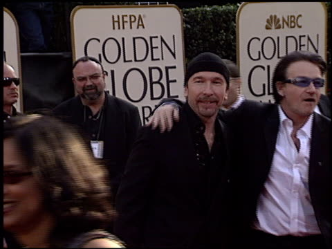 U2 at the 2003 Golden Globe Awards at the Beverly Hilton in Beverly Hills California on January 19 2003