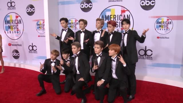 NCT 127 at the 2018 American Music Awards at Microsoft Theater on October 09 2018 in Los Angeles California
