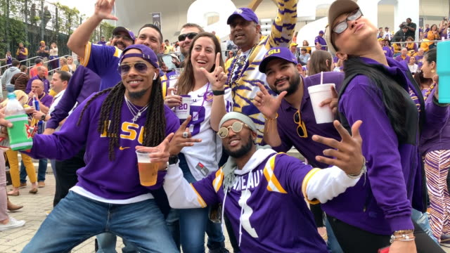 atmosphere at the 2020 college football playoff national championship at mercedes benz superdome on january 13 2020 in new orleans louisiana - sports league stock videos & royalty-free footage