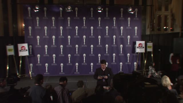 at the 23rd annual rock and roll hall of fame induction ceremony press room at the waldorf astoria in new york new york on march 10 2008 - hall of fame stock videos and b-roll footage