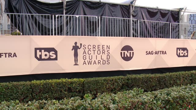 atmosphere at the 24th annual screen actors guild awards at the shrine auditorium on january 21 2018 in los angeles california - screen actors guild awards stock videos & royalty-free footage