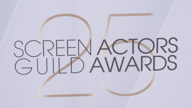 stockvideo's en b-roll-footage met atmosphere at the 25th annual screen actors guild awards at the shrine auditorium on january 27 2019 in los angeles california - screen actors guild awards
