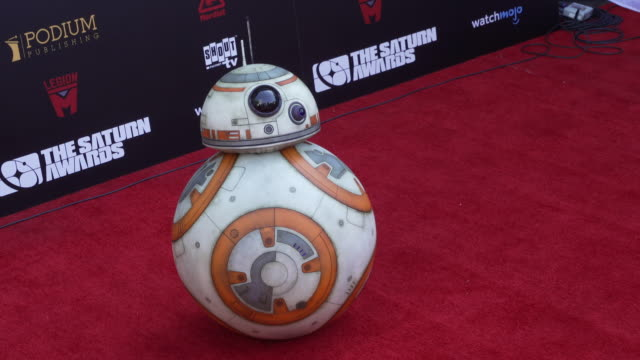 bb8 at the 45th annual saturn awards on september 13 2019 in hollywood california - star wars stock videos & royalty-free footage