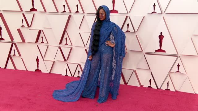 stockvideo's en b-roll-footage met at the 93rd annual academy awards - arrivals on april 25, 2021. - academy awards