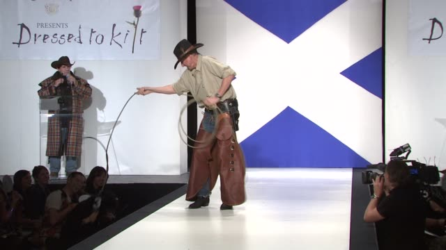 at the 9th annual dressed to kilt charity fashion show at new york ny. - kilt stock videos & royalty-free footage