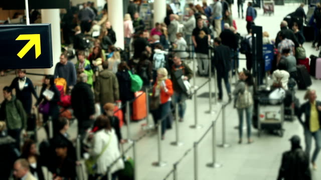 at the airport - crowded airport stock videos & royalty-free footage