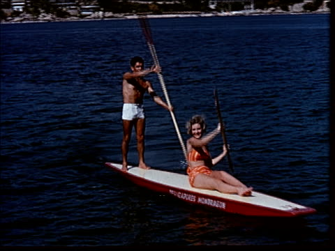 1963 at the beach in acapulco - lateinamerika stock-videos und b-roll-filmmaterial