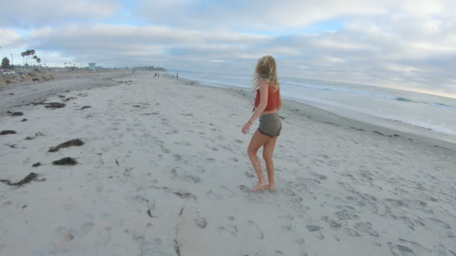 at the beach - cartwheel stock videos & royalty-free footage