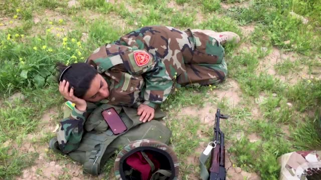 at the bnaslawa training base south of erbil the capital of iraqi kurdistan men and women peshmerga forces are completing training courses many have... - gender equality stock videos & royalty-free footage