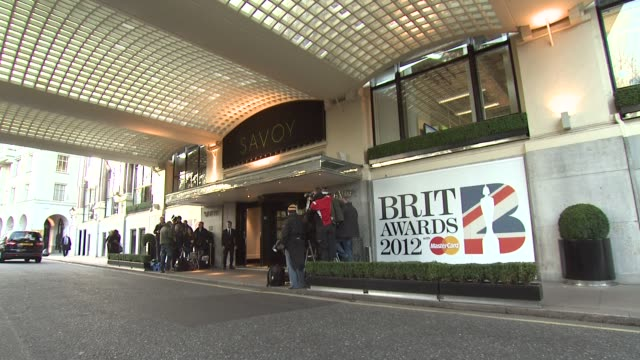 at the brit awards 2012 nominations announcement at the savoy hotel on january 12 2012 in london england - ブリット・アワード点の映像素材/bロール