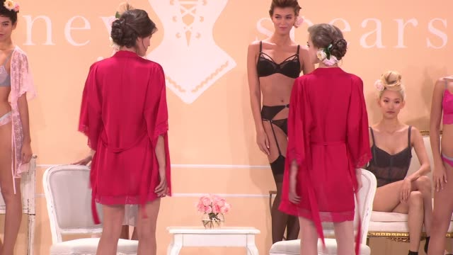 PRESENTATION at the Britney Spears Hosts The Exclusive Unveiling Of Her Signature Sleepwear Line The Intimate Britney Spears at New York Public...