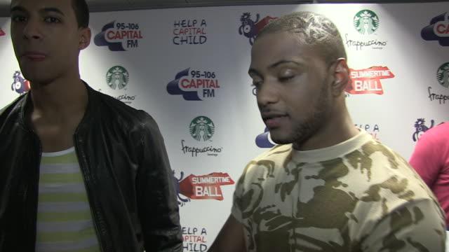 stockvideo's en b-roll-footage met jls at the capital fm summertime ball at london england - jongensband