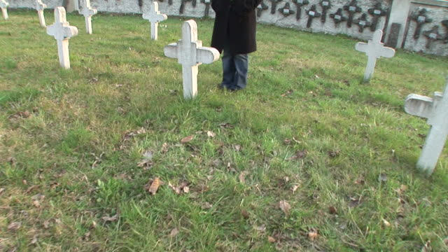 hd steadycam: at the cemetery - tombstone stock videos & royalty-free footage