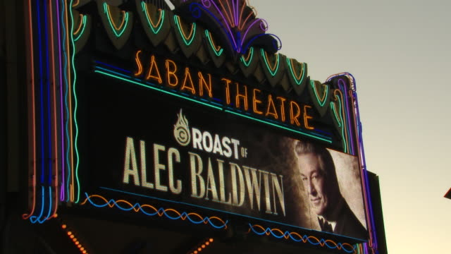 atmosphere at the comedy central roast of alec baldwin in los angeles ca - alec baldwin stock videos & royalty-free footage