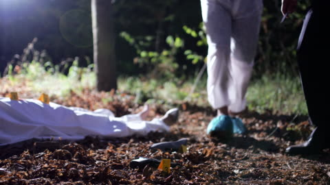 at the crime scene 4k - gory of dead people stock videos & royalty-free footage