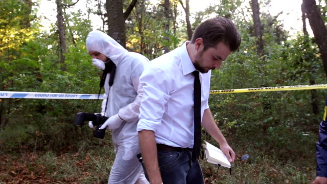 at the crime scene - criminal investigation stock videos & royalty-free footage