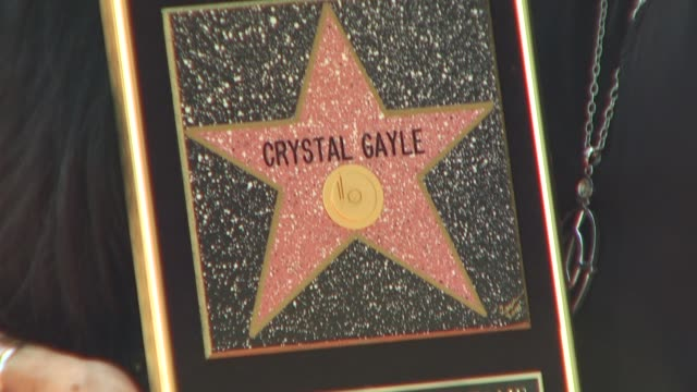 at the crystal gayle is honored with a star on the hollywood walk of fame at hollywood ca. - crystal gayle stock videos & royalty-free footage