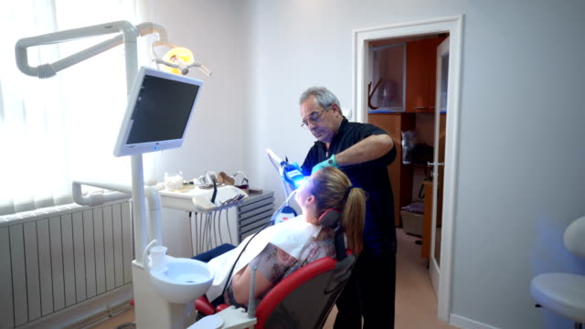 at the dentist office - lips stock videos & royalty-free footage