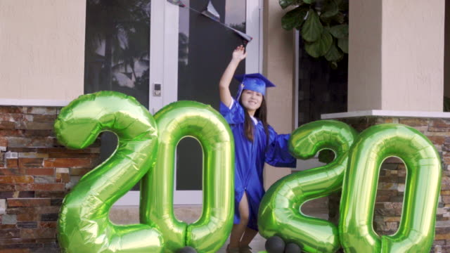 at the end i got to celebrate my graduation - graduation stock videos & royalty-free footage