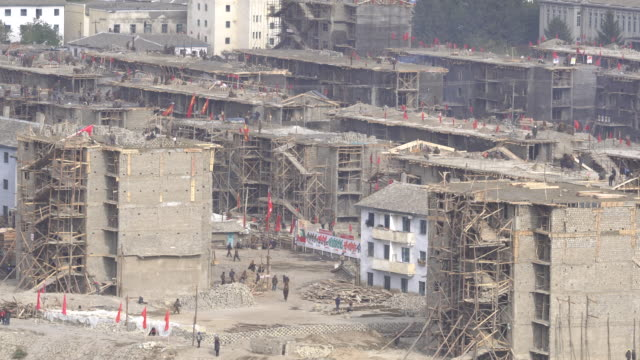 at the end of august big floods of dooman river destroyed most of the houses of namyang city which is hometown of north korea's founder kim ilsung... - hometown bildbanksvideor och videomaterial från bakom kulisserna