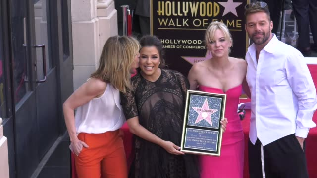 clean at the eva longoria honored with a star on the hollywood walk of fame on april 16 2018 in hollywood california - 2018 video stock e b–roll
