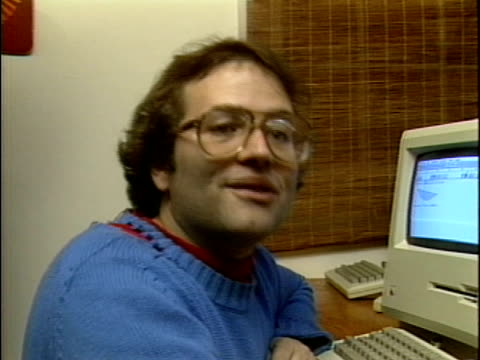 at the first hackers conference in 1984 andy hertzfeld talks about the future of computers the growing importance of telecommunications and how he... - 1984 stock videos & royalty-free footage