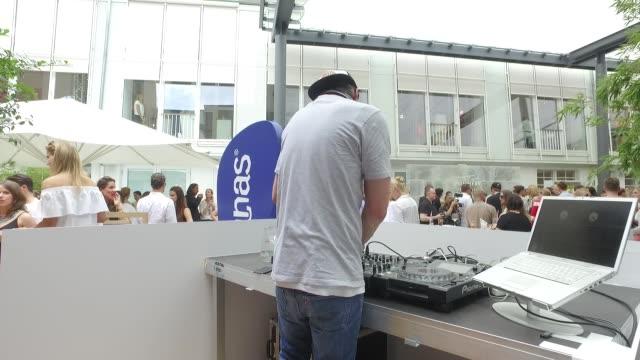 DJ at the 'Gala' fashion brunch during the MercedesBenz Fashion Week Berlin Spring/Summer 2017 at Ellington Hotel on July 01 2016 in Berlin Germany